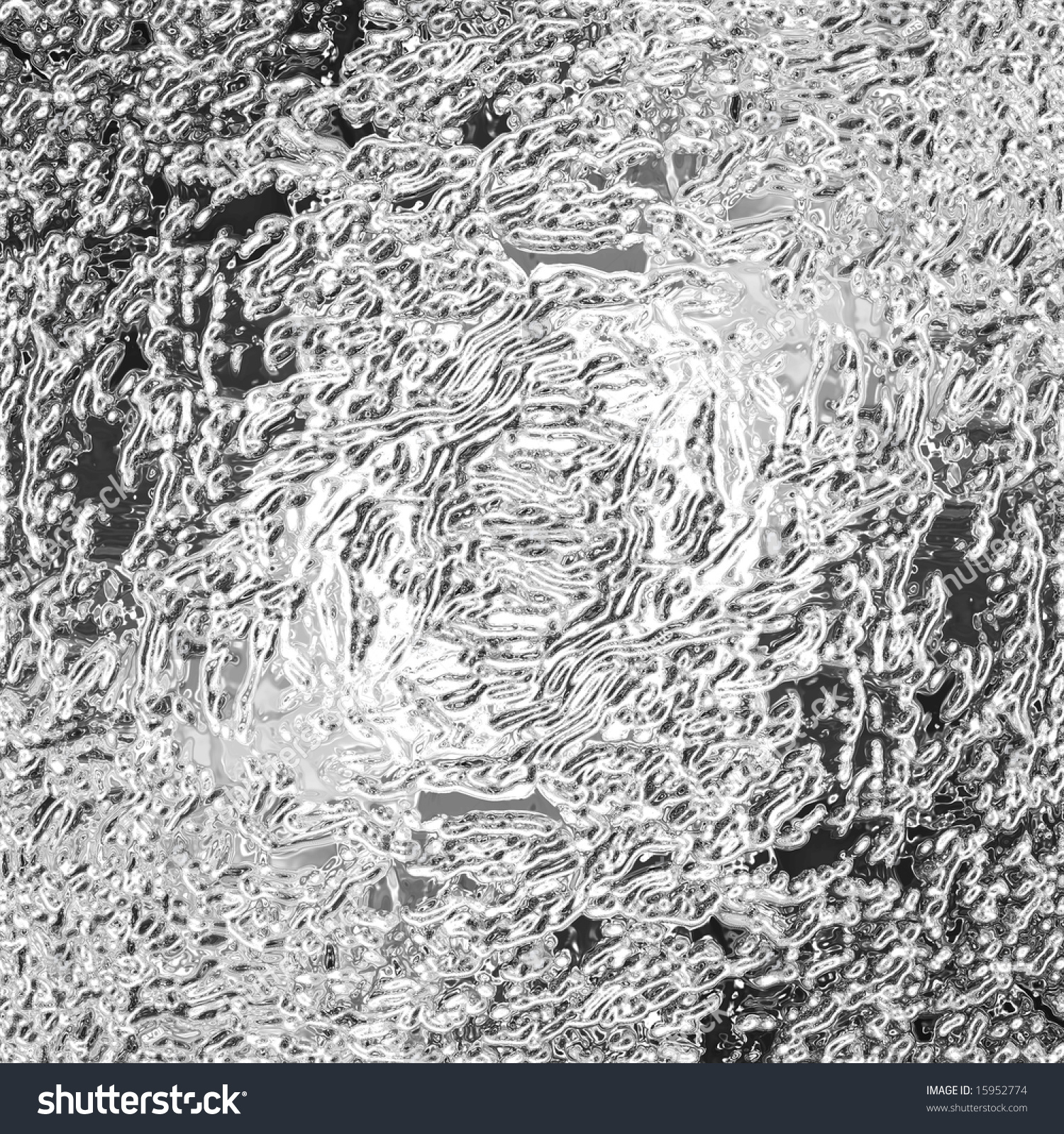 A Very Large Rendered Illustration Of Ripples In Molten Silver ...
