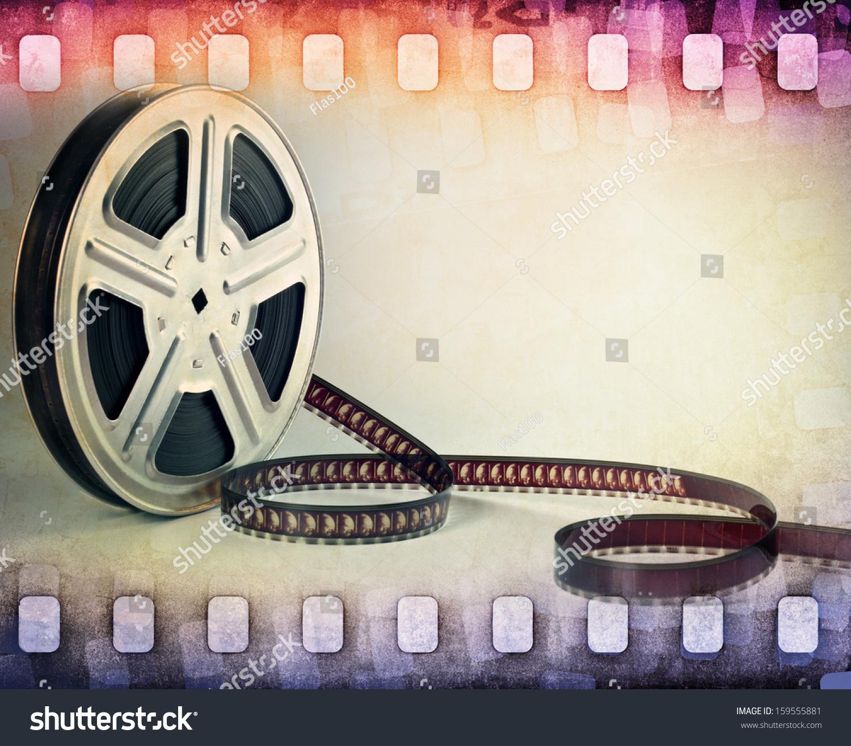 Colorful Film Strip Film Reel Background Stock Photo ...