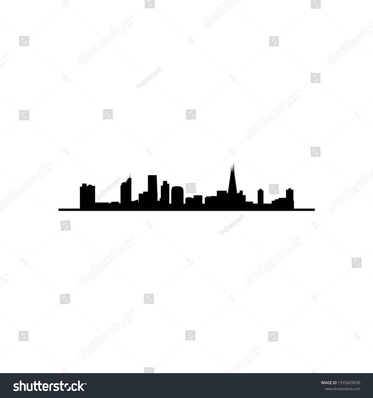 Tottenham Skyline Silhouette Design Logo Vector Stock Vector Royalty Free 1595603836
