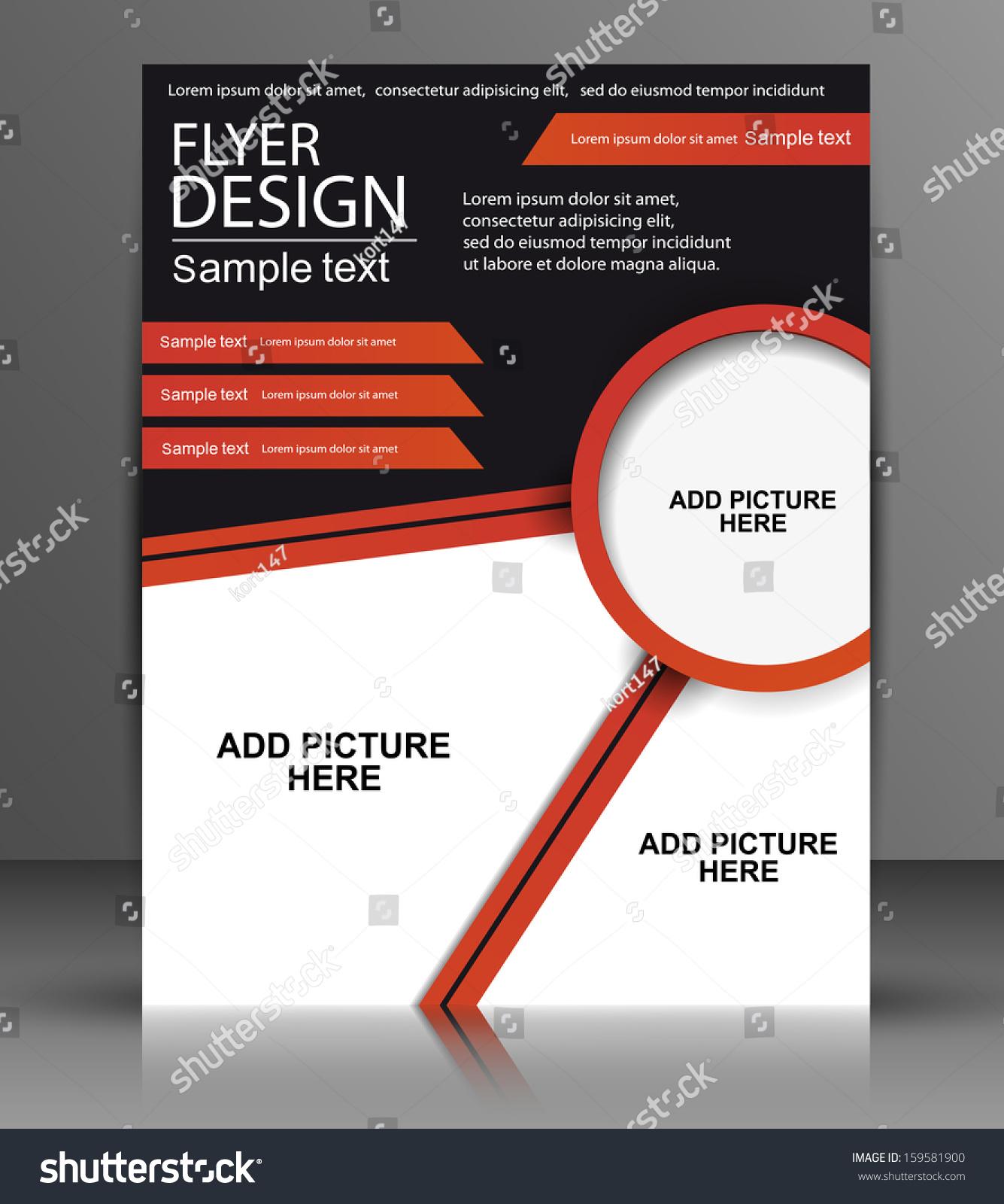 vector flyer design business stock vector shutterstock vector flyer design business