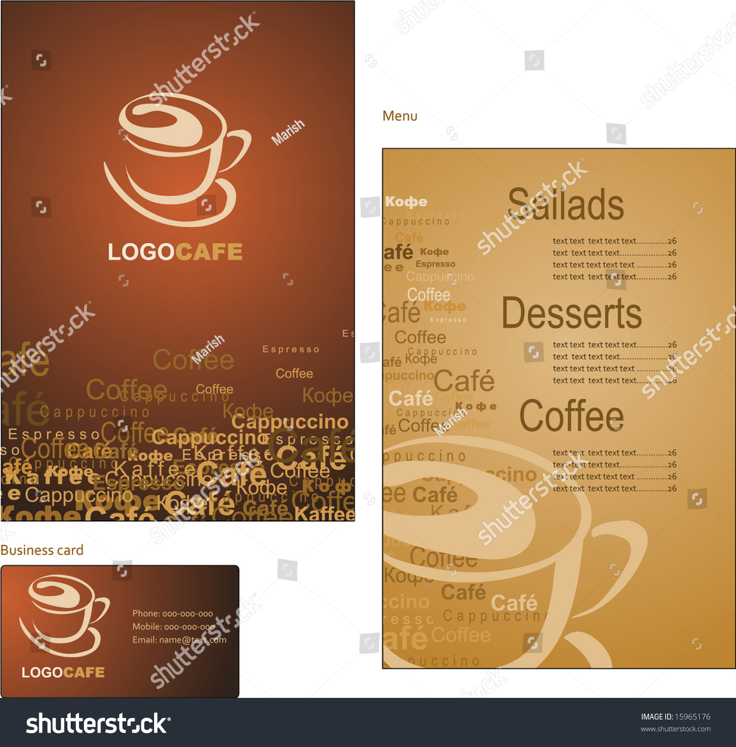 Stock Images RoyaltyFree Images Vectors Shutterstock - Coffee business card template free