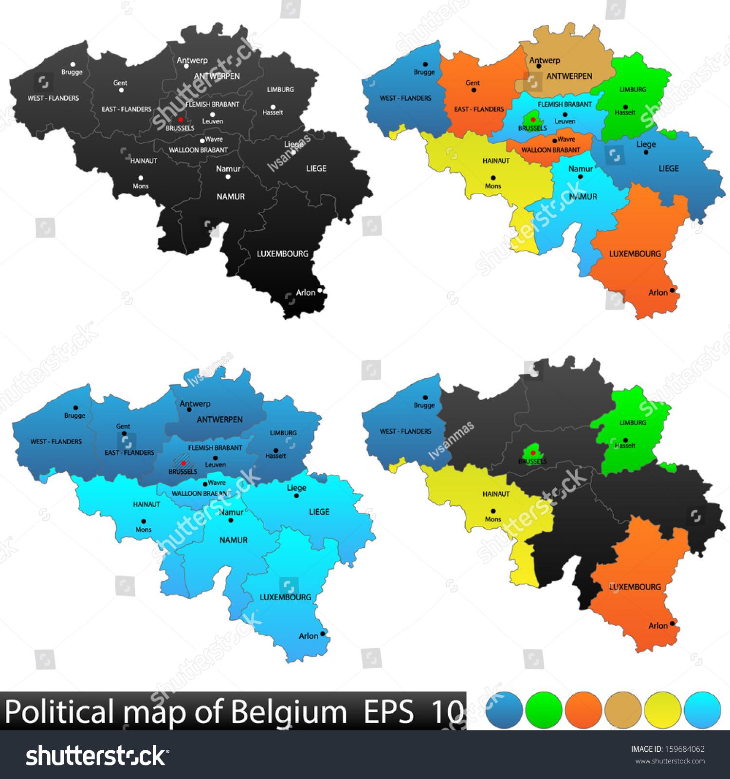 Political Location Map Belgium Versatile File Vector – Belgium Political Map