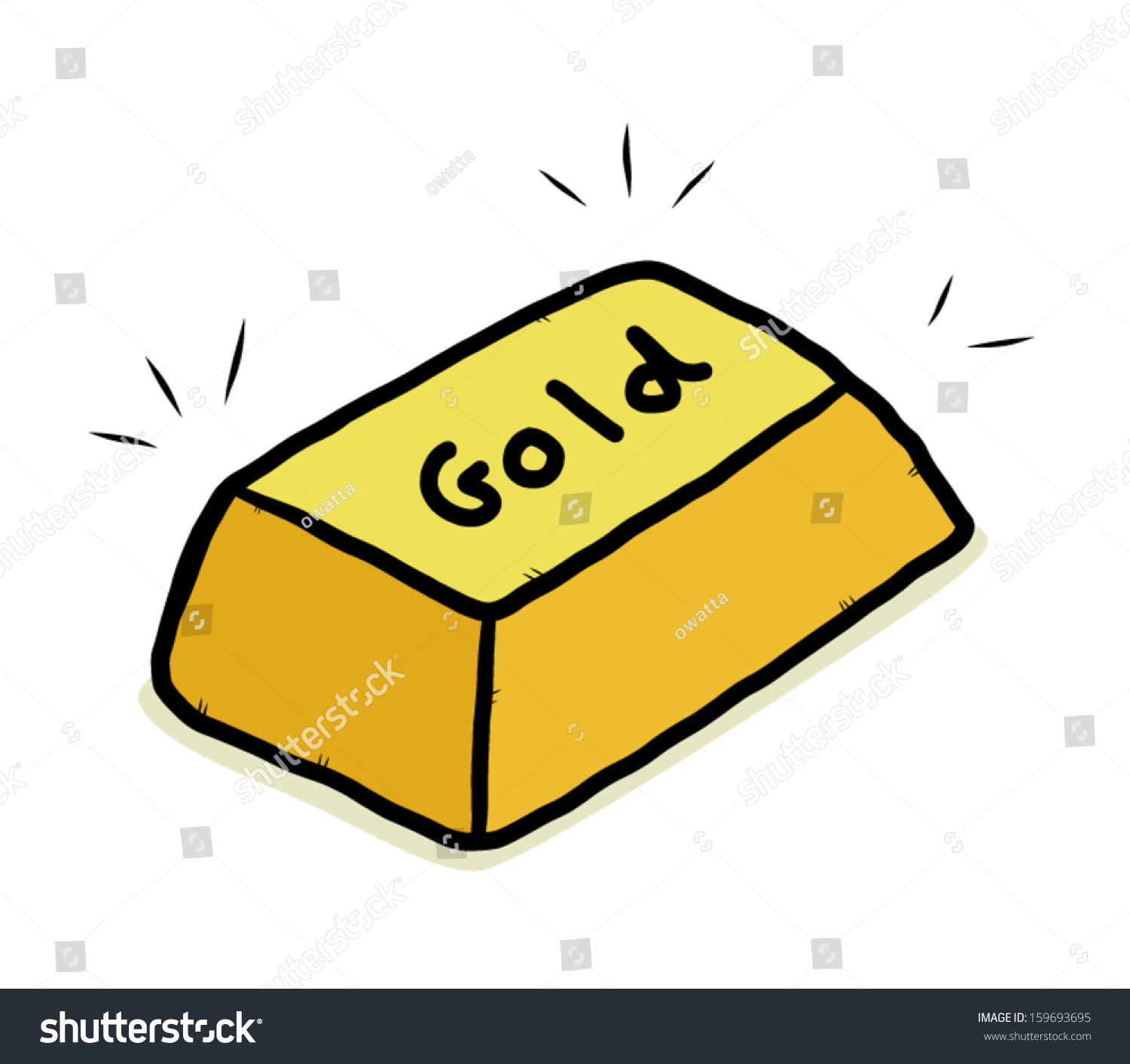 Gold Bar / Cartoon Vector And Illustration, Isolated On ...