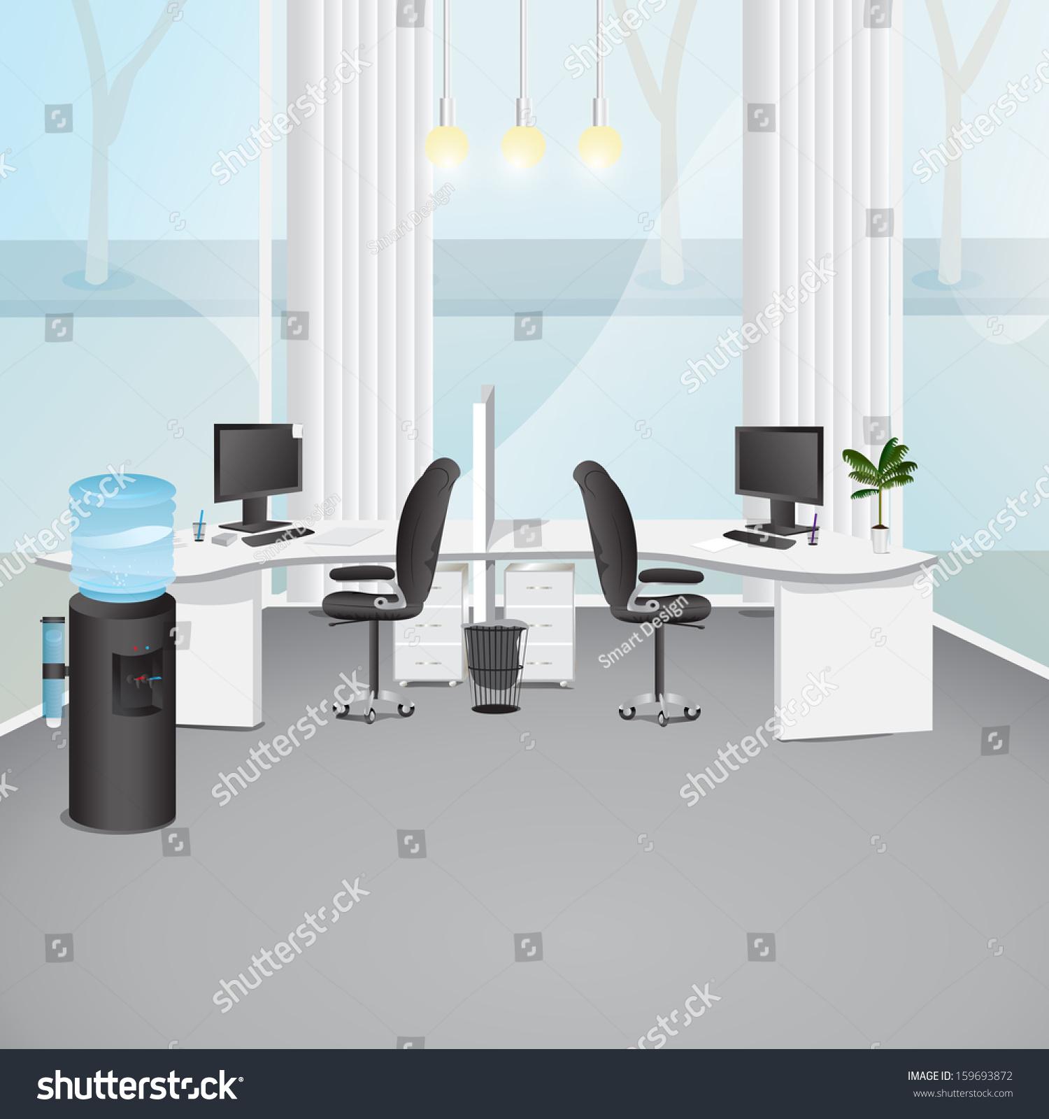 Modern Office Vector Illustration Graphic Design Stock