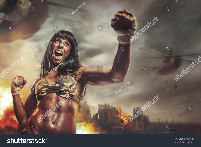 Muscular Woman Power Videos 109