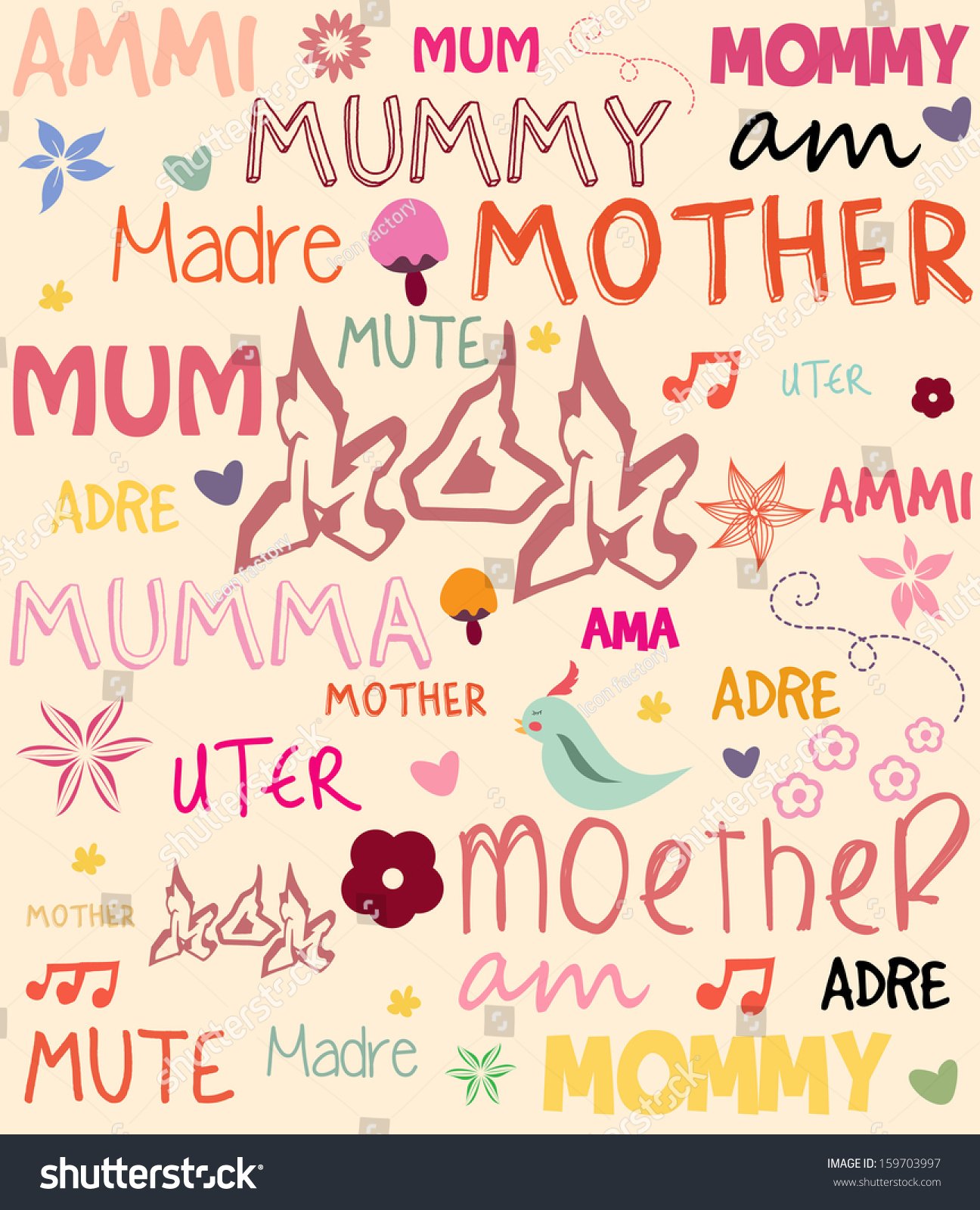 royalty free vector mother s day poster with words 159703997 stock