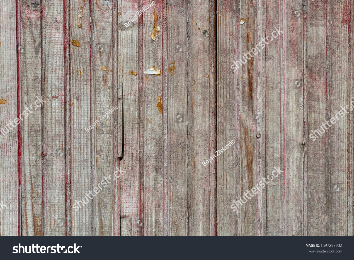Old Weathered Wooden Planks Texture #1597298902