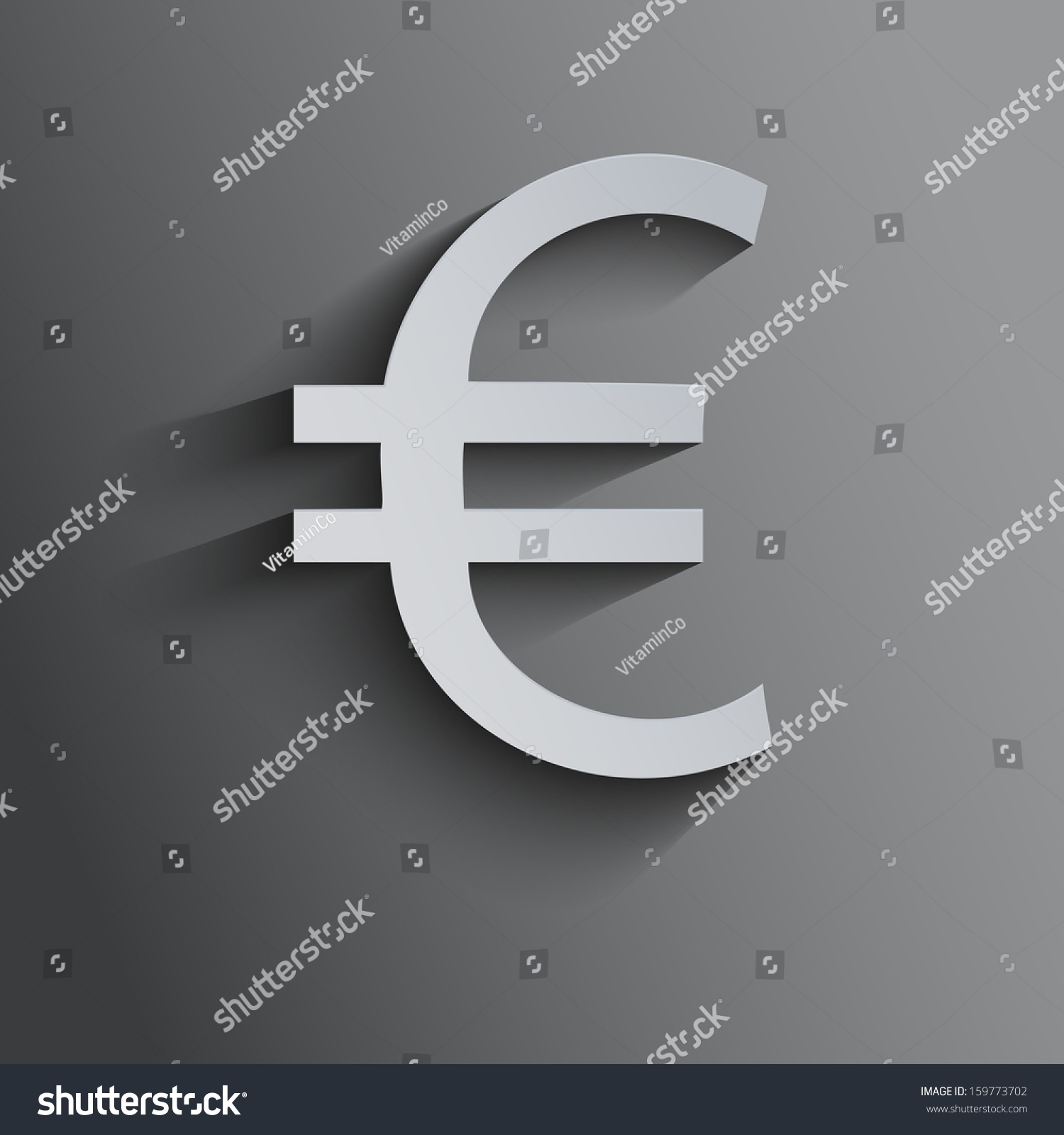 Currency Symbol Euro On Dark Background Stock Illustration 159773702