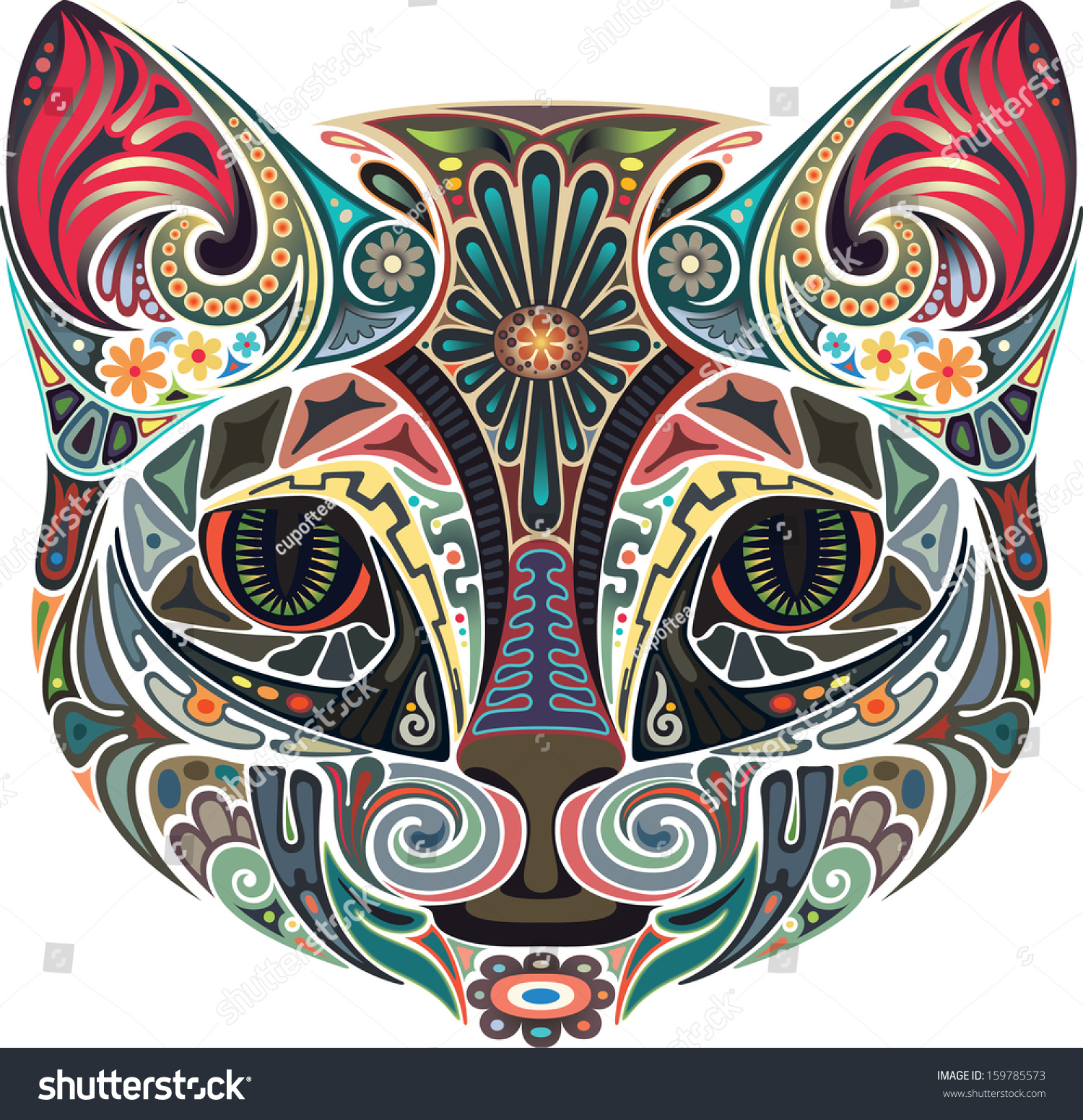 http://image.shutterstock.com/z/stock-vector-cat-with-pink-ears-159785573.jpg