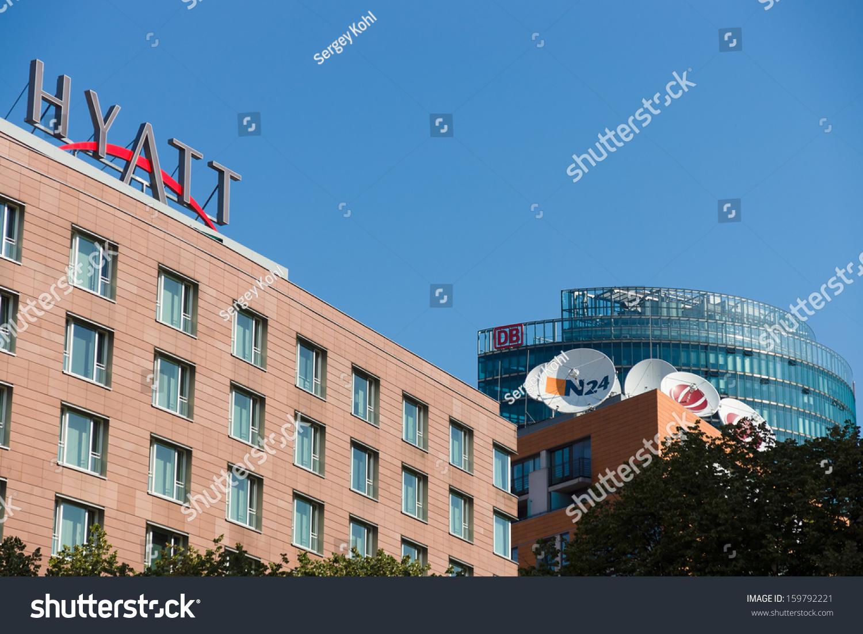 Berlin August 31 Luxury Hotel Hyatt Stock Photo Royalty Free