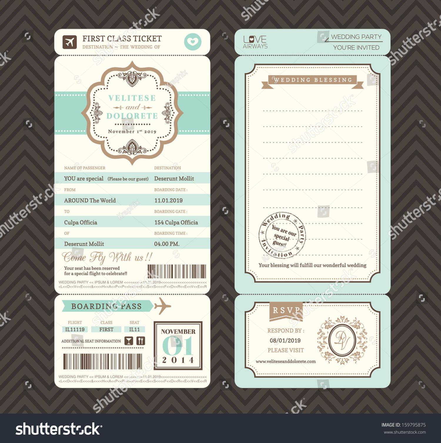 Wedding Ticket Invitation Template – orderecigsjuice.info