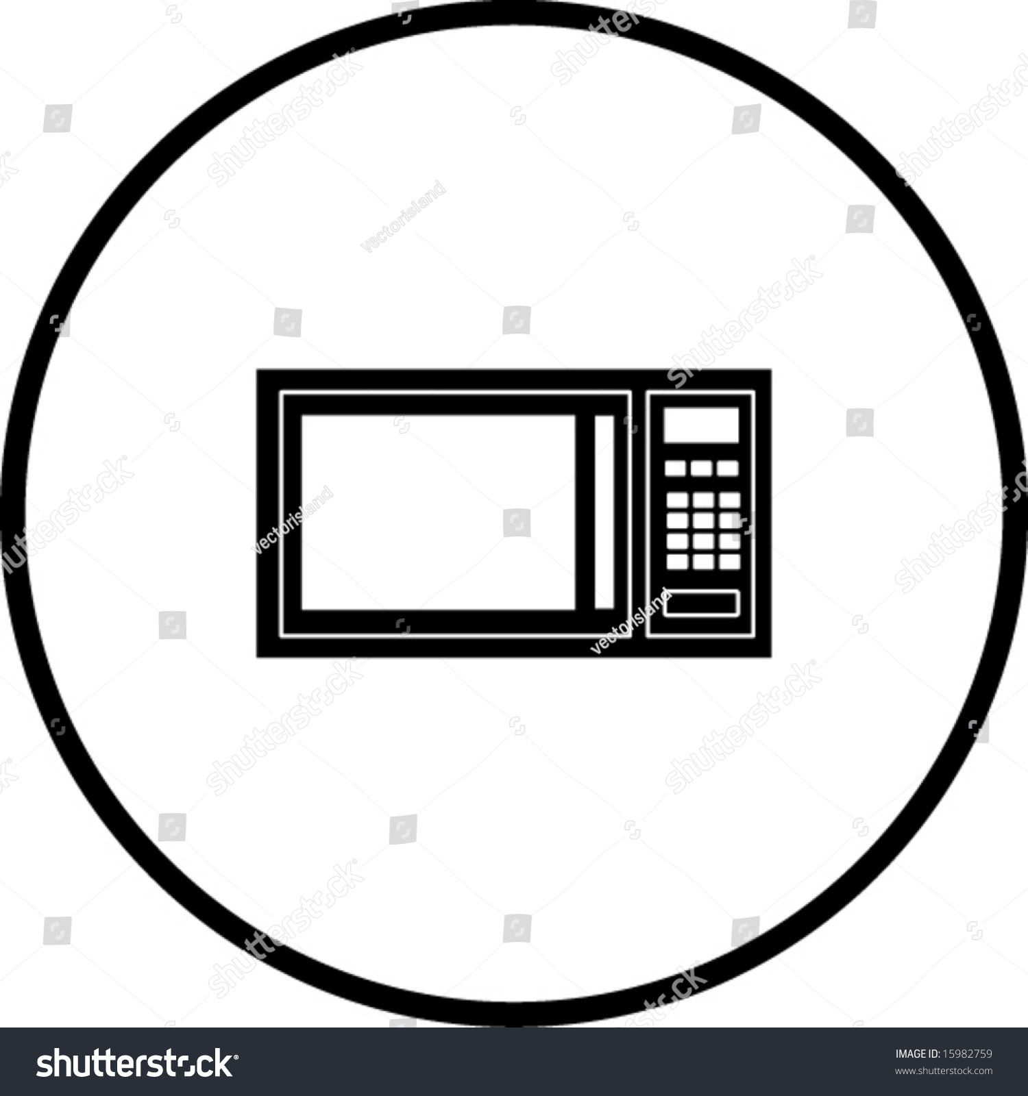 Microwave oven symbol stock vector 15982759 shutterstock microwave oven symbol buycottarizona Image collections