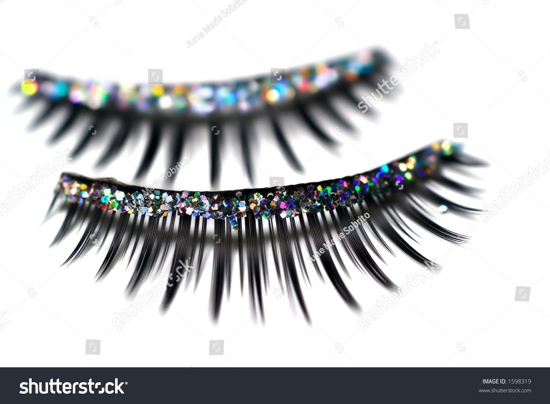 Closeup Glitter False Eyelashes Stock Photo Edit Now 1598319