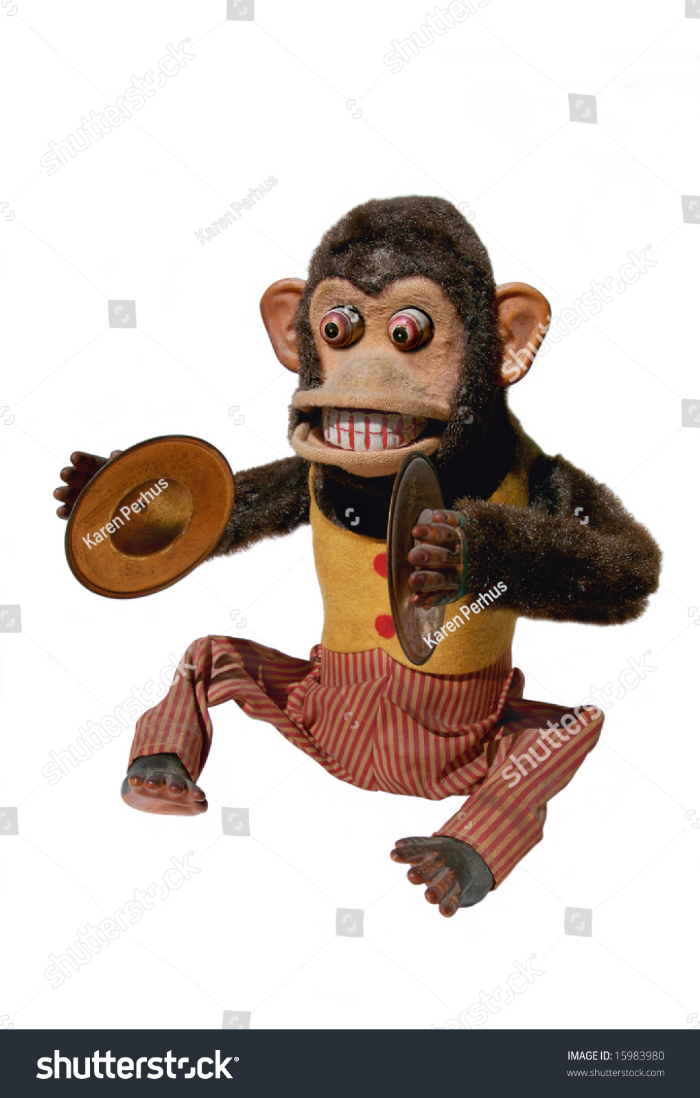 Vintage Mechanical Monkey Toy Cymbals Full Stock Photo Edit Now