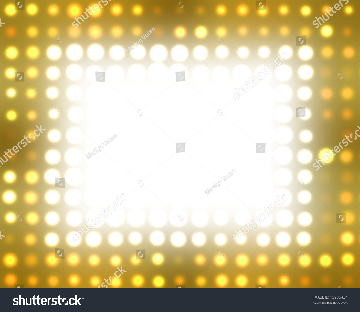 Theater Lights Background: Theater Marquee Lights Stock Photo 15986434 : Shutterstock