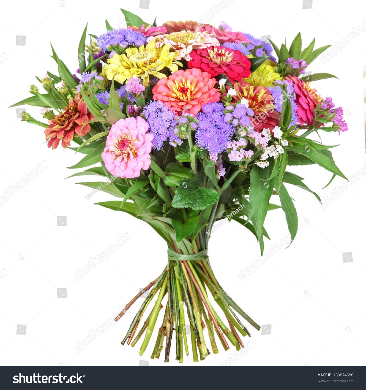 Colorful Bunch Flowers Dahlia Zinnia Stock Photo Edit Now