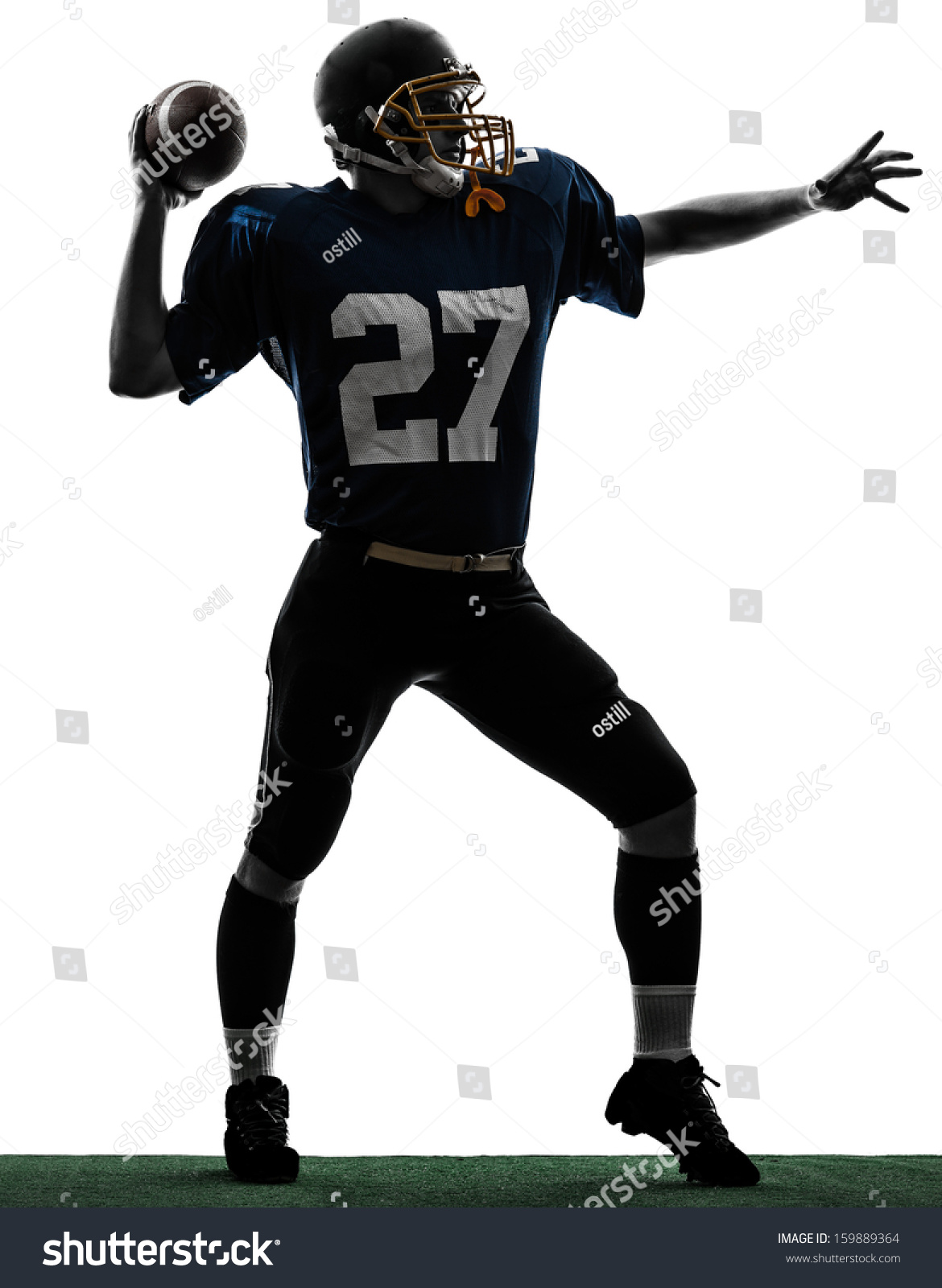 Quarterback Silhouette at GetDrawingscom  Free for