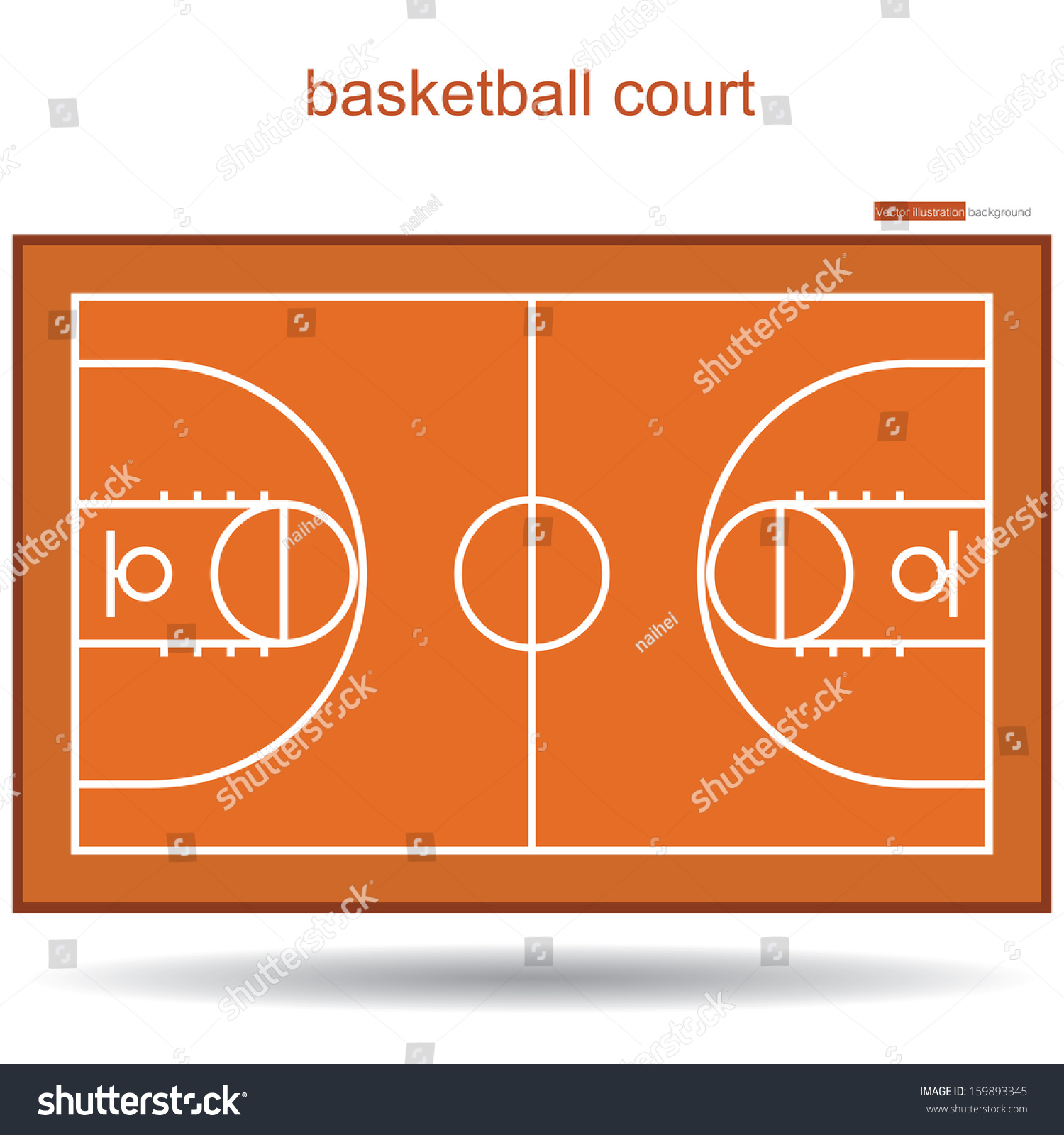 Basketball court top view proper markings and proportions for Cheapest way to make a basketball court