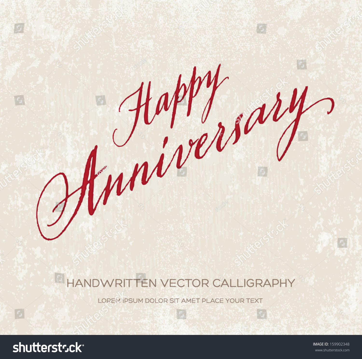 Happy anniversary vector greeting card poster stock