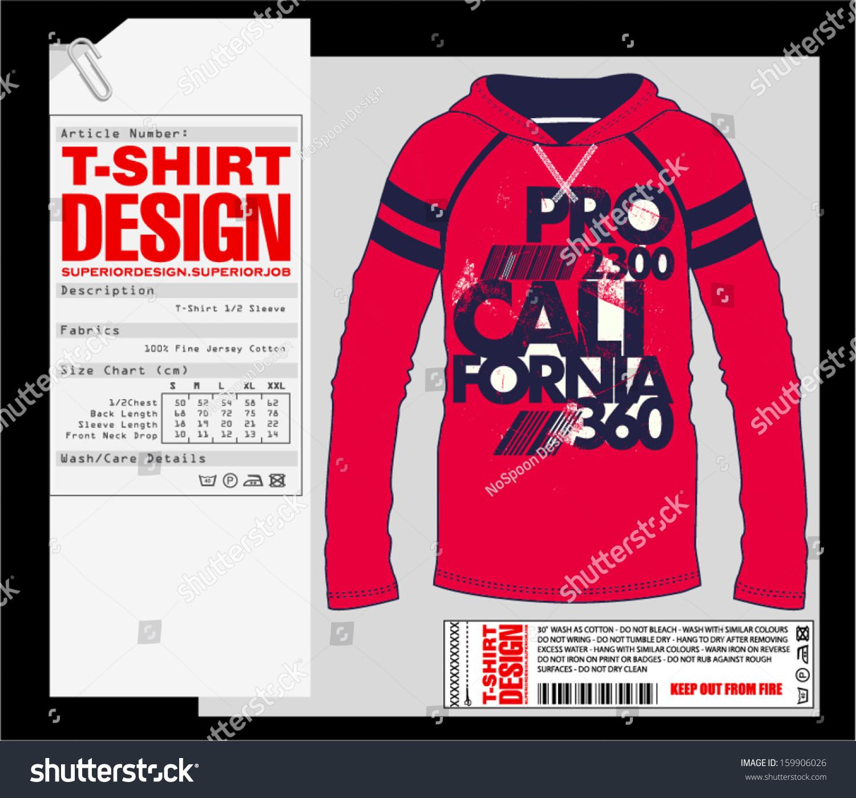 Long sleeve t shirt design print design stock vector for T shirt design sleeve print