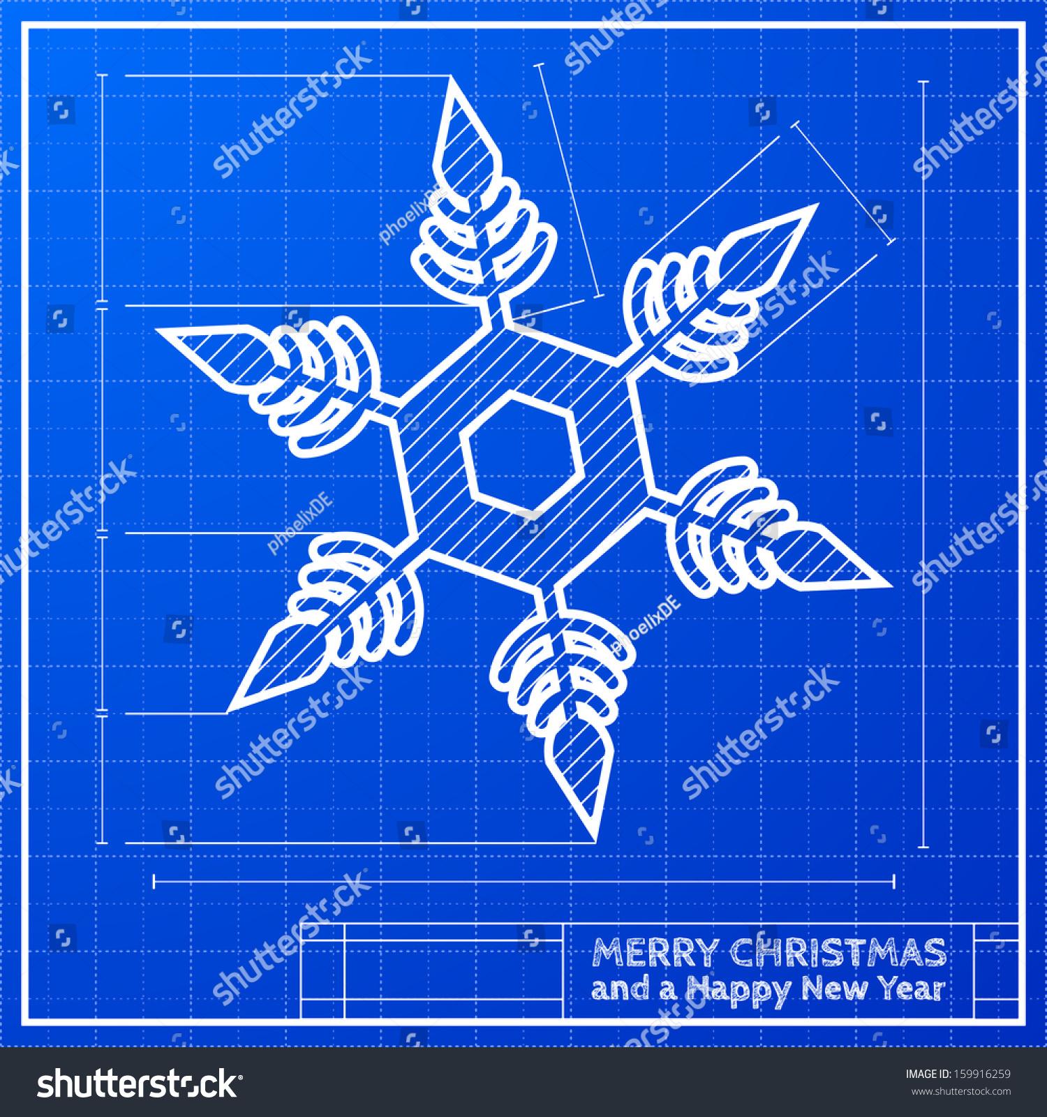 Detailed illustration snowflake on blueprint background stock detailed illustration snowflake on blueprint background stock vector 159916259 shutterstock malvernweather Gallery