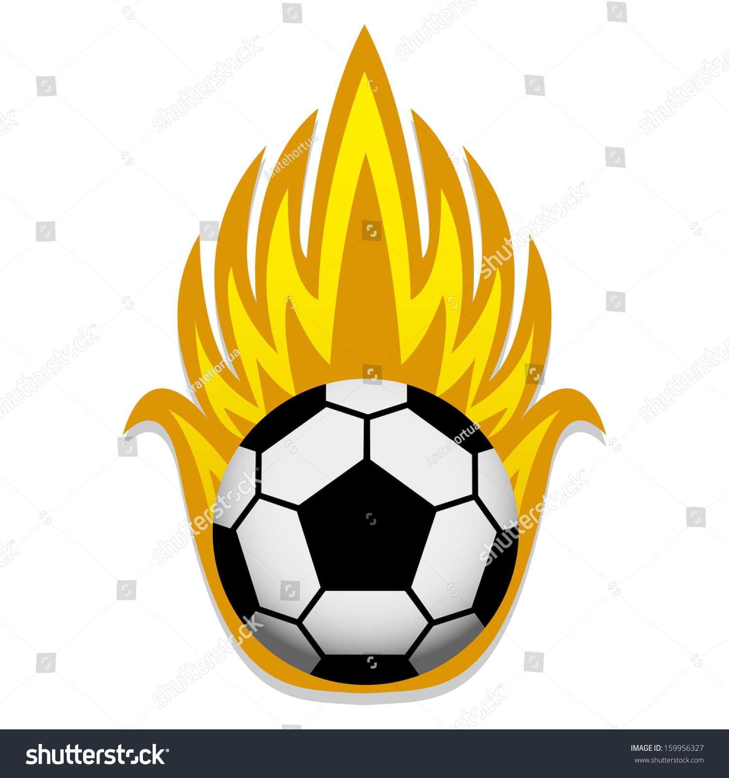 Vector Soccer Ball Flames Icon Isolated Stock Vector 159956327 ...