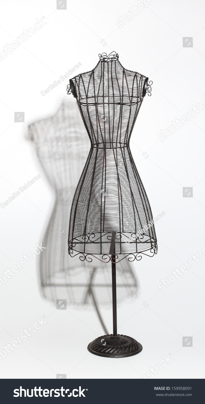 Royalty-free Vintage Wire Dress Form #159958091 Stock Photo ...