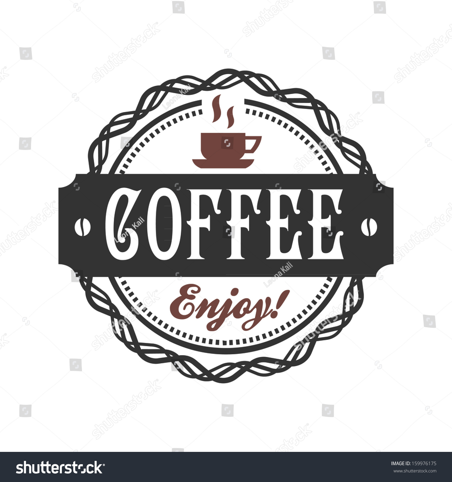Vector coffee shop labels with calligraphy 159976175 Calligraphy store