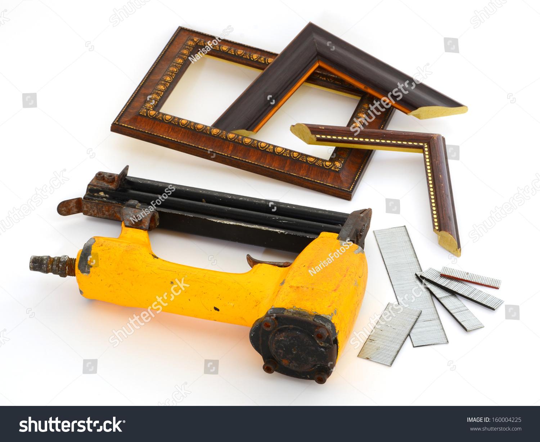 Framing Tools Kind Put Nail Gun Stock Photo (Royalty Free) 160004225 ...