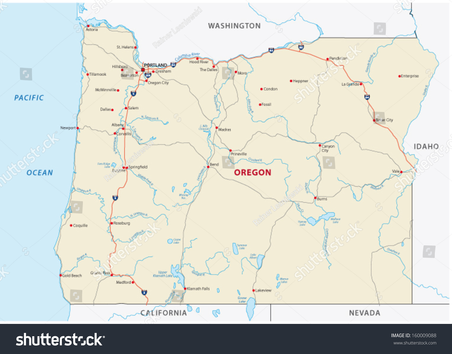 Road Map Of Oregon Tibet Map - Oregon road maps