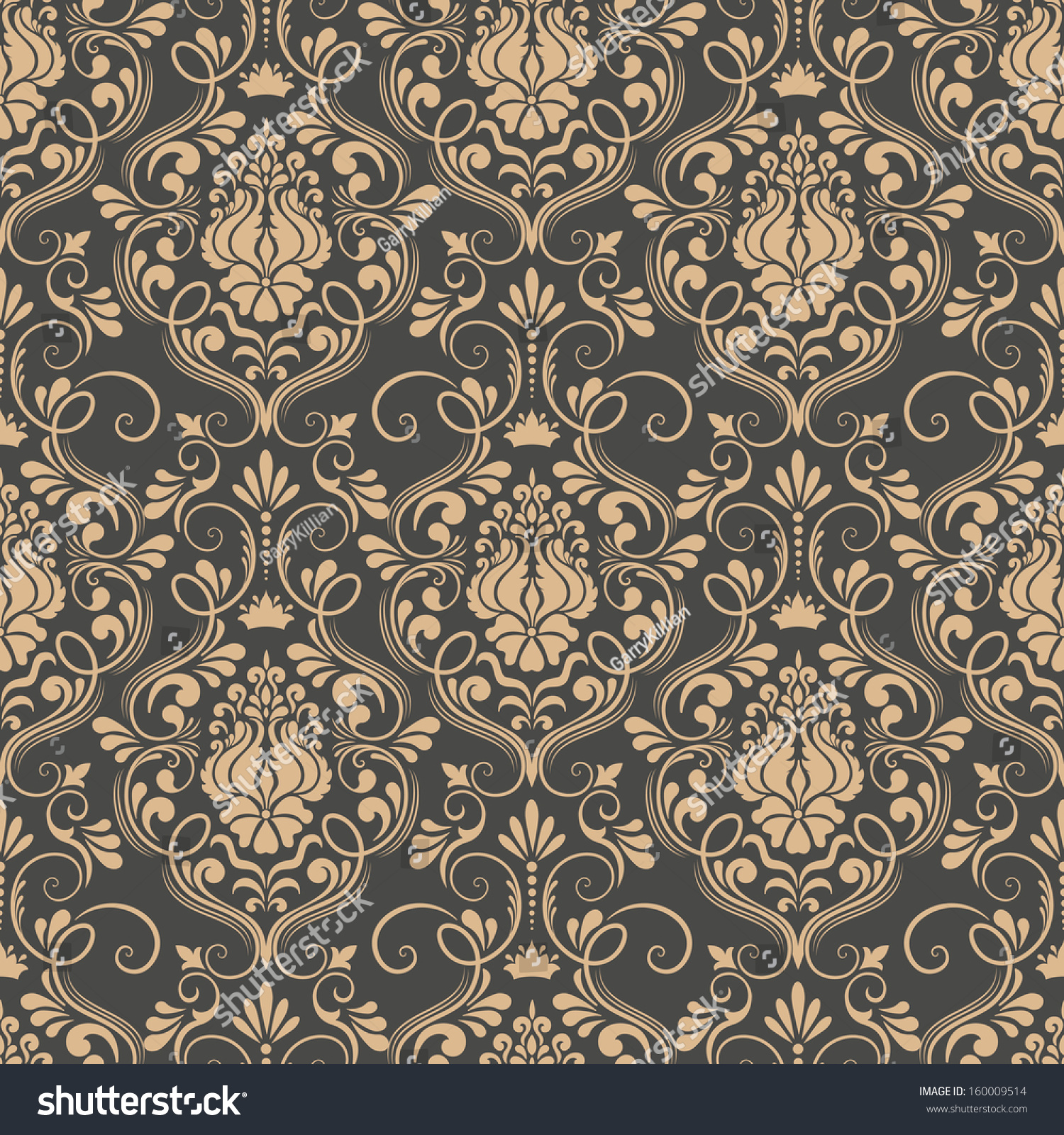 Vector damask seamless pattern background  Elegant luxury texture for  wallpapers  backgrounds and page fill. Vector Damask Seamless Pattern Background Elegant Stock Vector