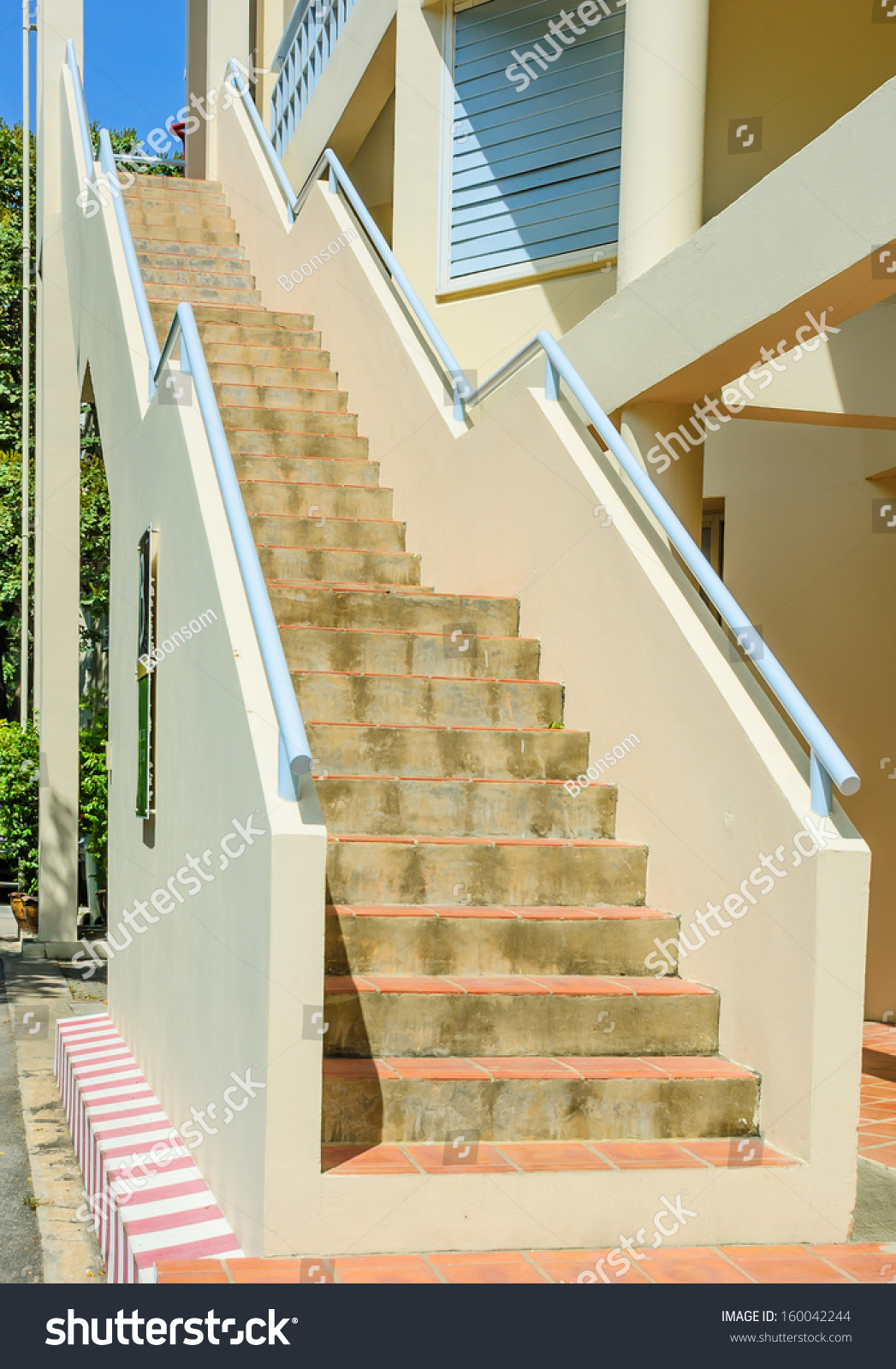 Outdoor Stair Concrete Stock Photo Edit Now 160042244