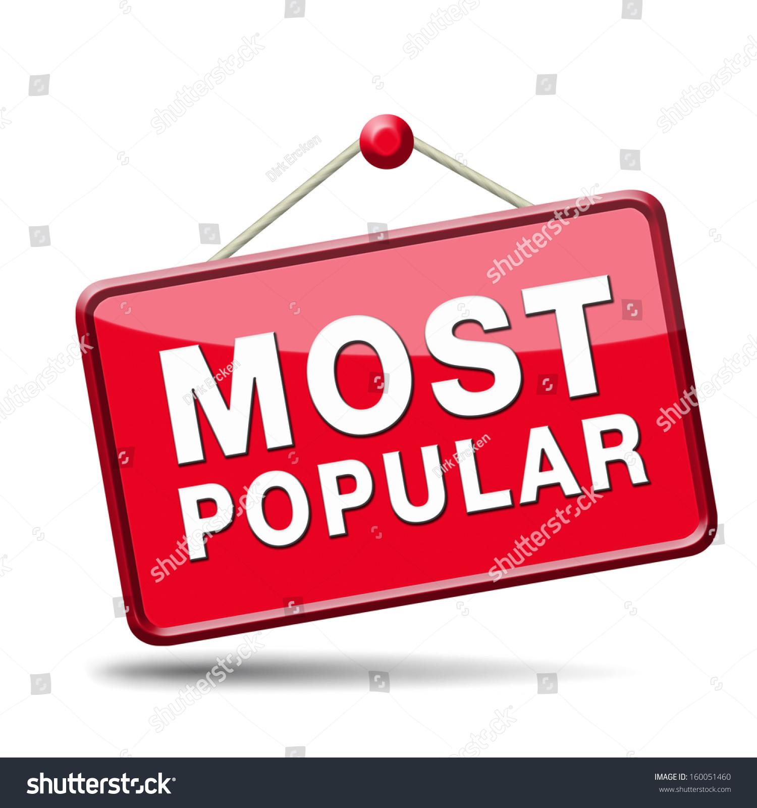 most popular sign popularity label icon stock illustration 160051460