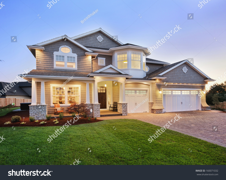 Beautiful home exterior stock photo 160071032 shutterstock - Beautiful home pictures exterior ...