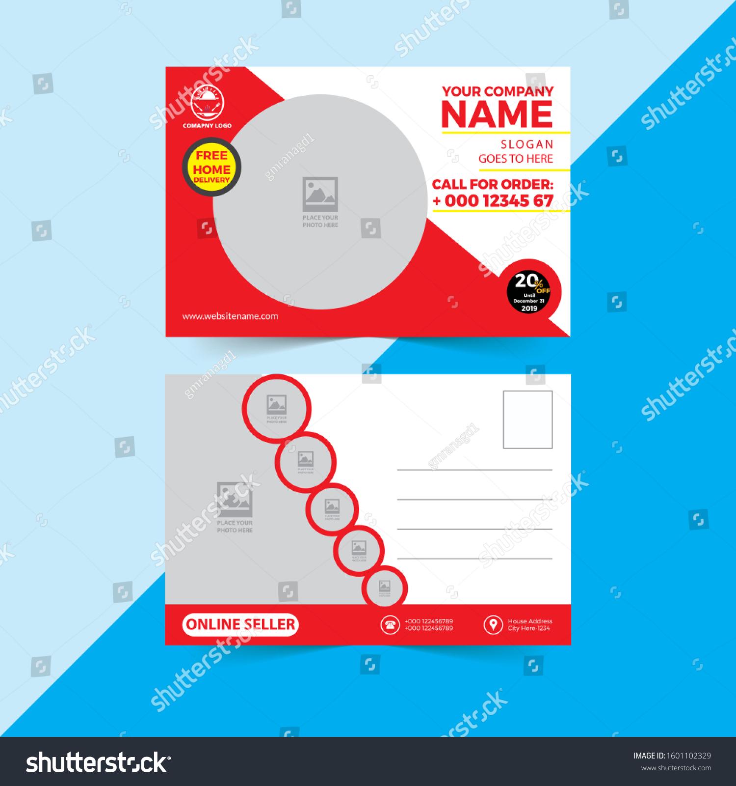 Corporate Professional Beautiful Business Postcard Design Stock Vector  (Royalty Free) 1601102329