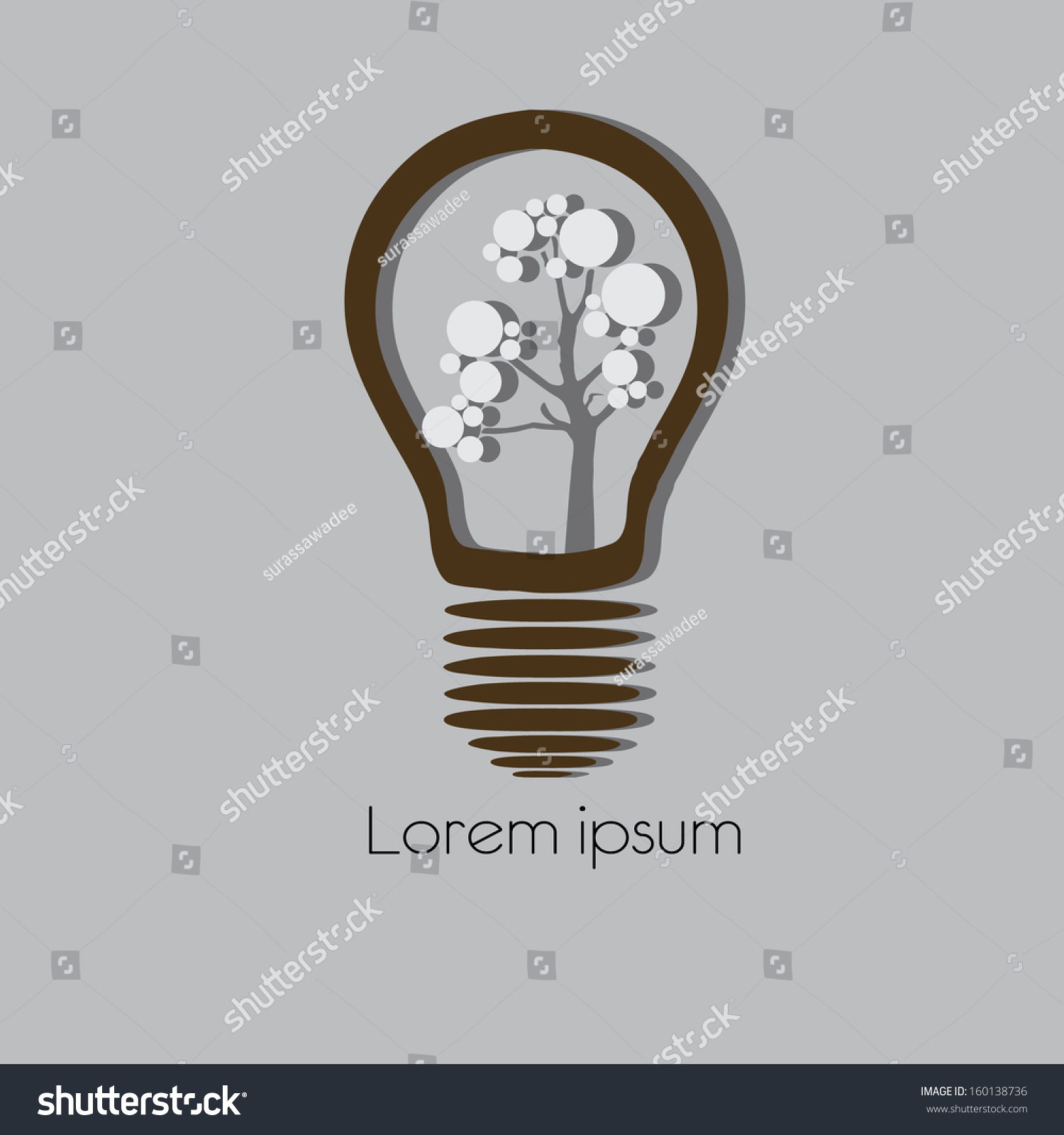 Concept Tree Light Bulb Symbol Renewable Stock Vector Royalty Free Electronic Circuit Clip Art Arts In Of Energy
