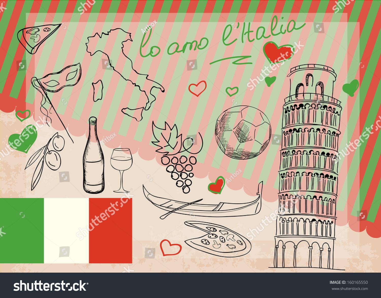 Symbols Italy Stock Vector Hd Royalty Free 160165550 Shutterstock