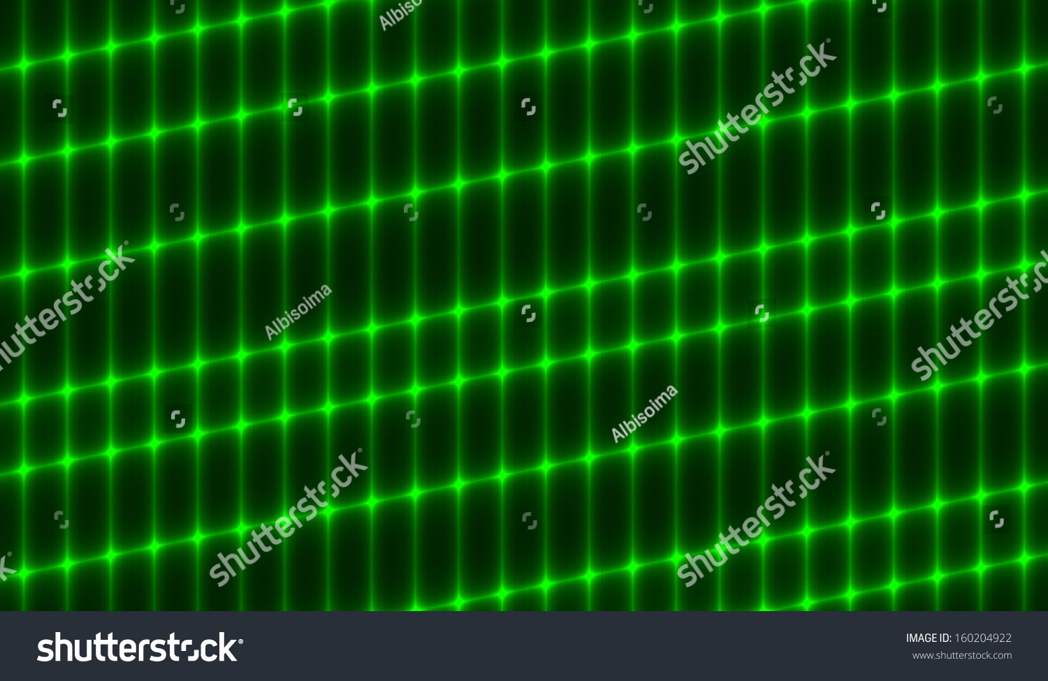 Neon Green Grid On Black Background Abstract Wallpaper