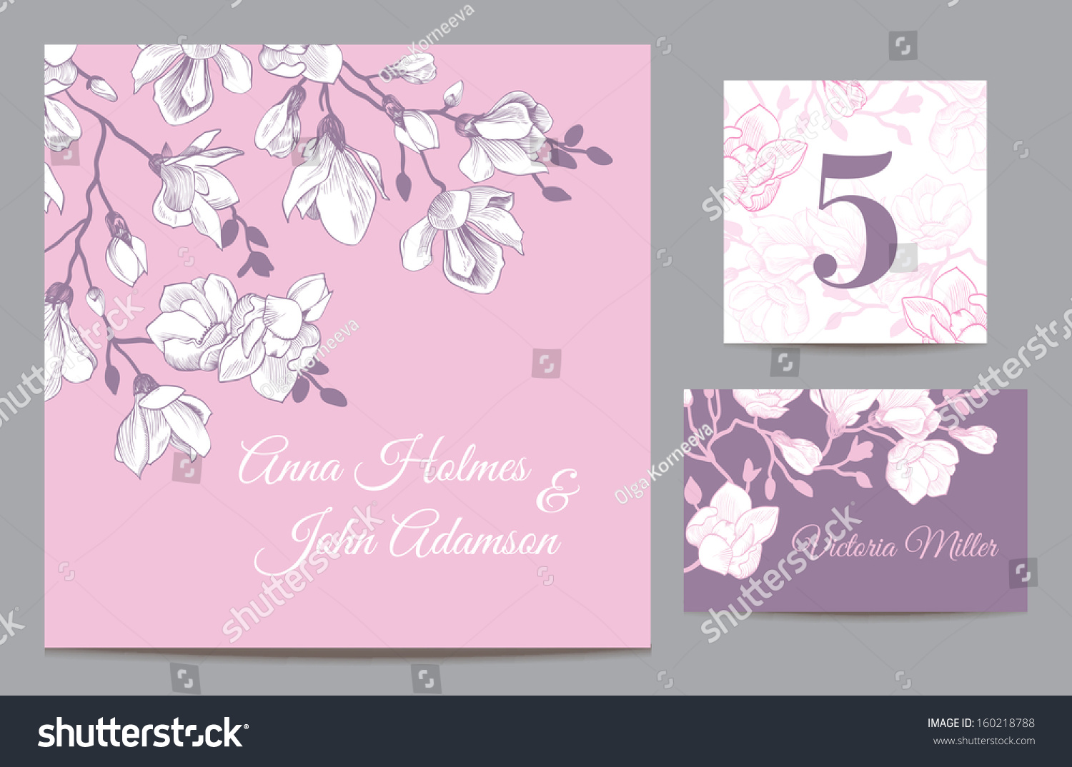 Wedding Invite Card Stock: Set Backgrounds Celebrate Wedding Invitation Card Stock