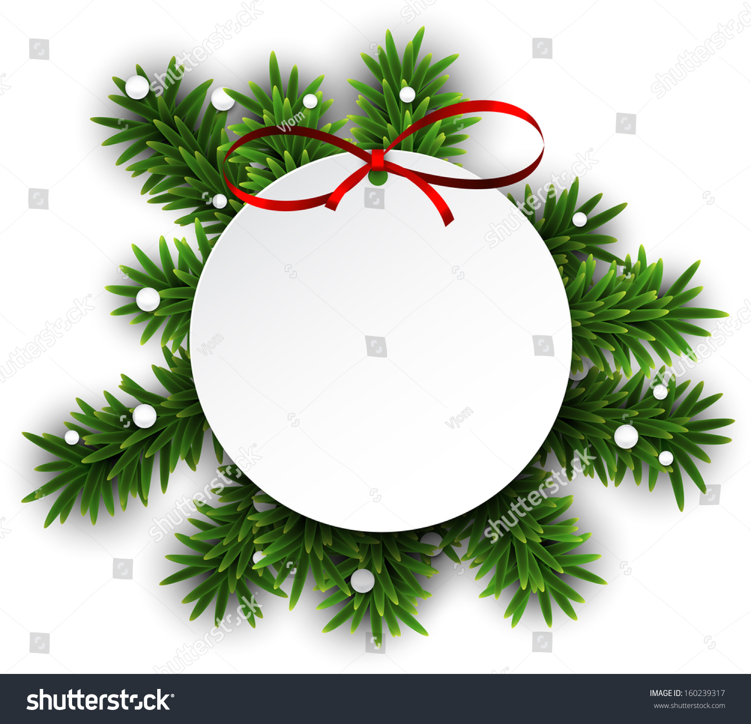 christmas tree branch vector - photo #34
