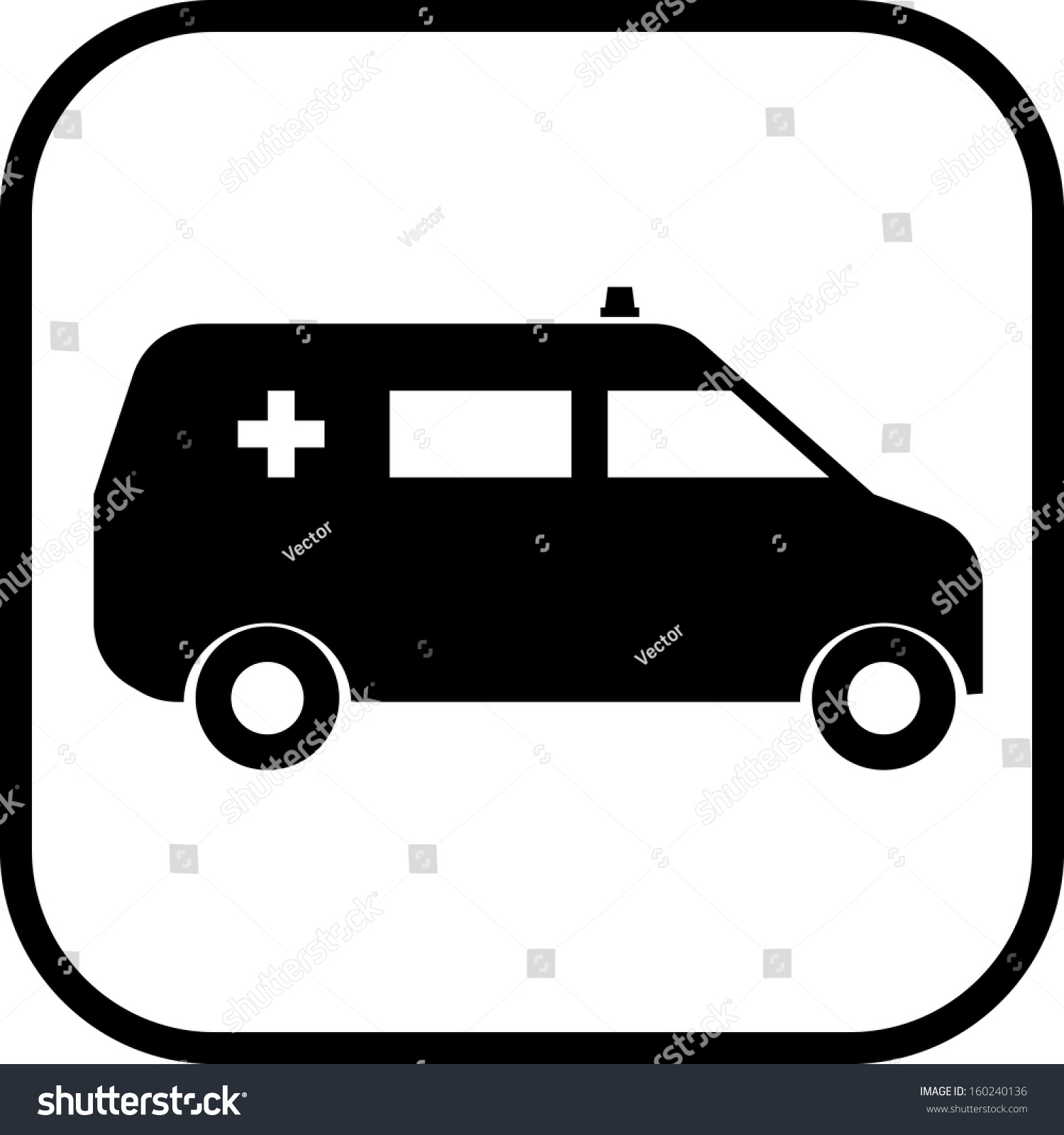 ambulance van car vector icon stock vector 2018 160240136 rh shutterstock com car dashboard icons vector free car vector icon free download