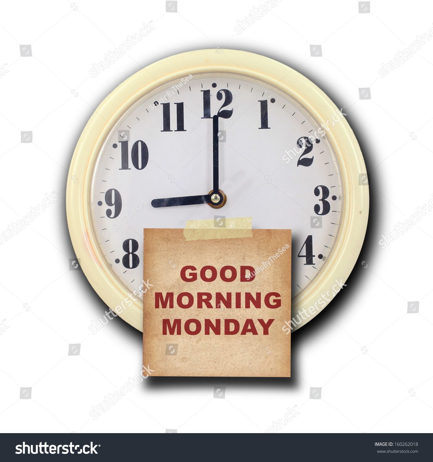 Nine oclock on wall clock old stock photo 160262018 shutterstock nine oclock on the wall clock with the old paper short note and text amipublicfo Gallery