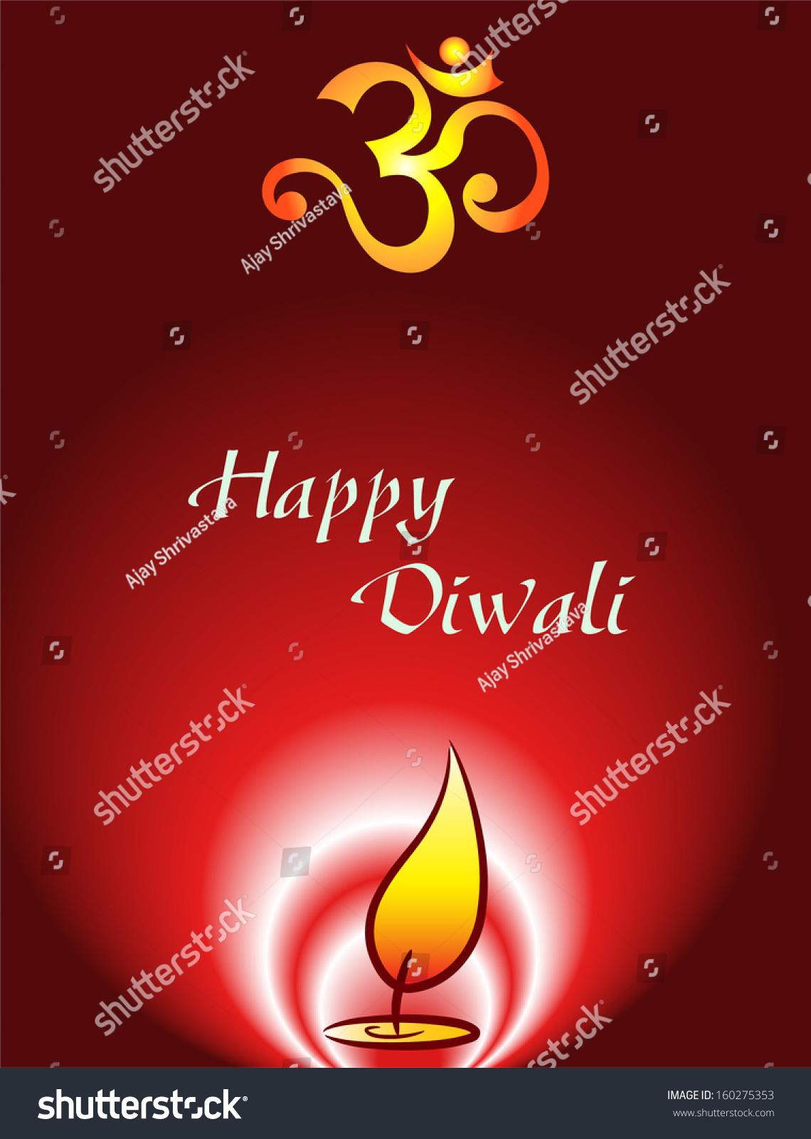 Diwali Greeting Stock Illustration 160275353 Shutterstock