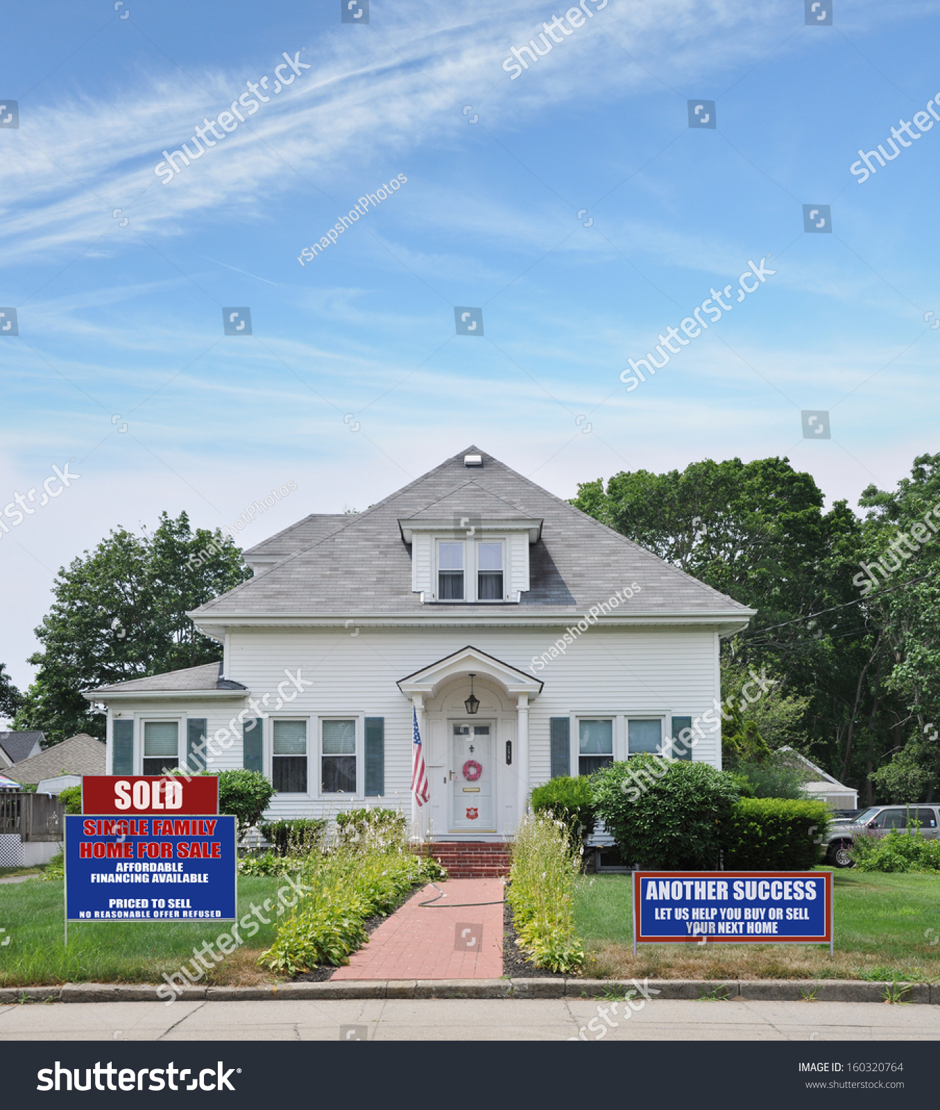 Sold another success real estate for sale sign front yard for Cottages and bungalows for sale