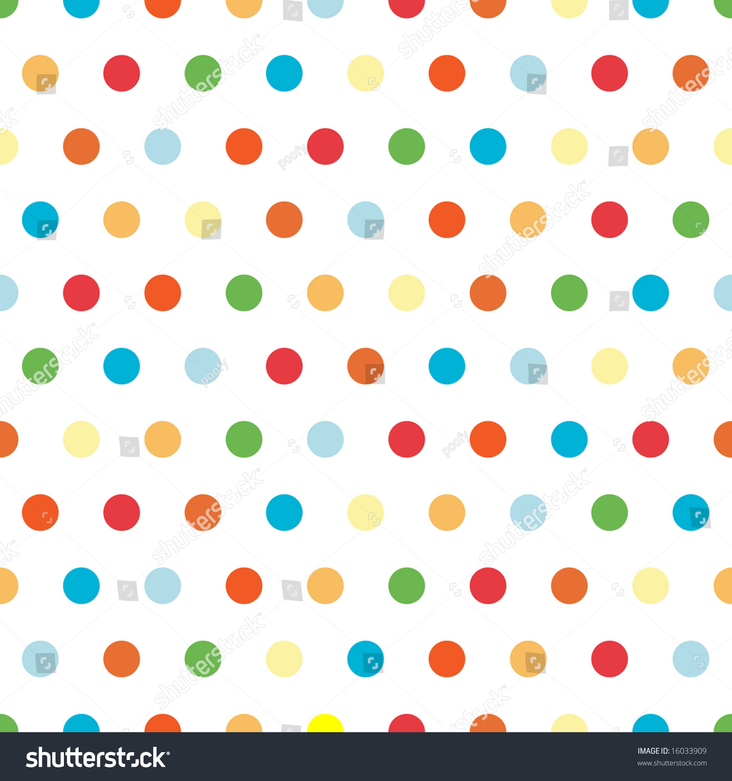 Polka Dots Pattern In Bright Colors Stock Photo 16033909 ...