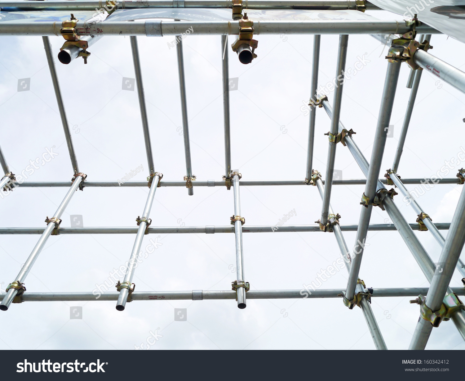 scaffolding pipe clamp parts stock photo edit now 160342412