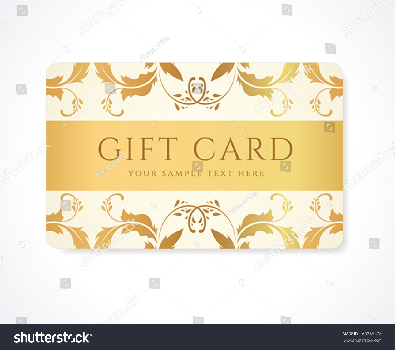 Gift Card Gift Coupon Discount Card Stock Vector