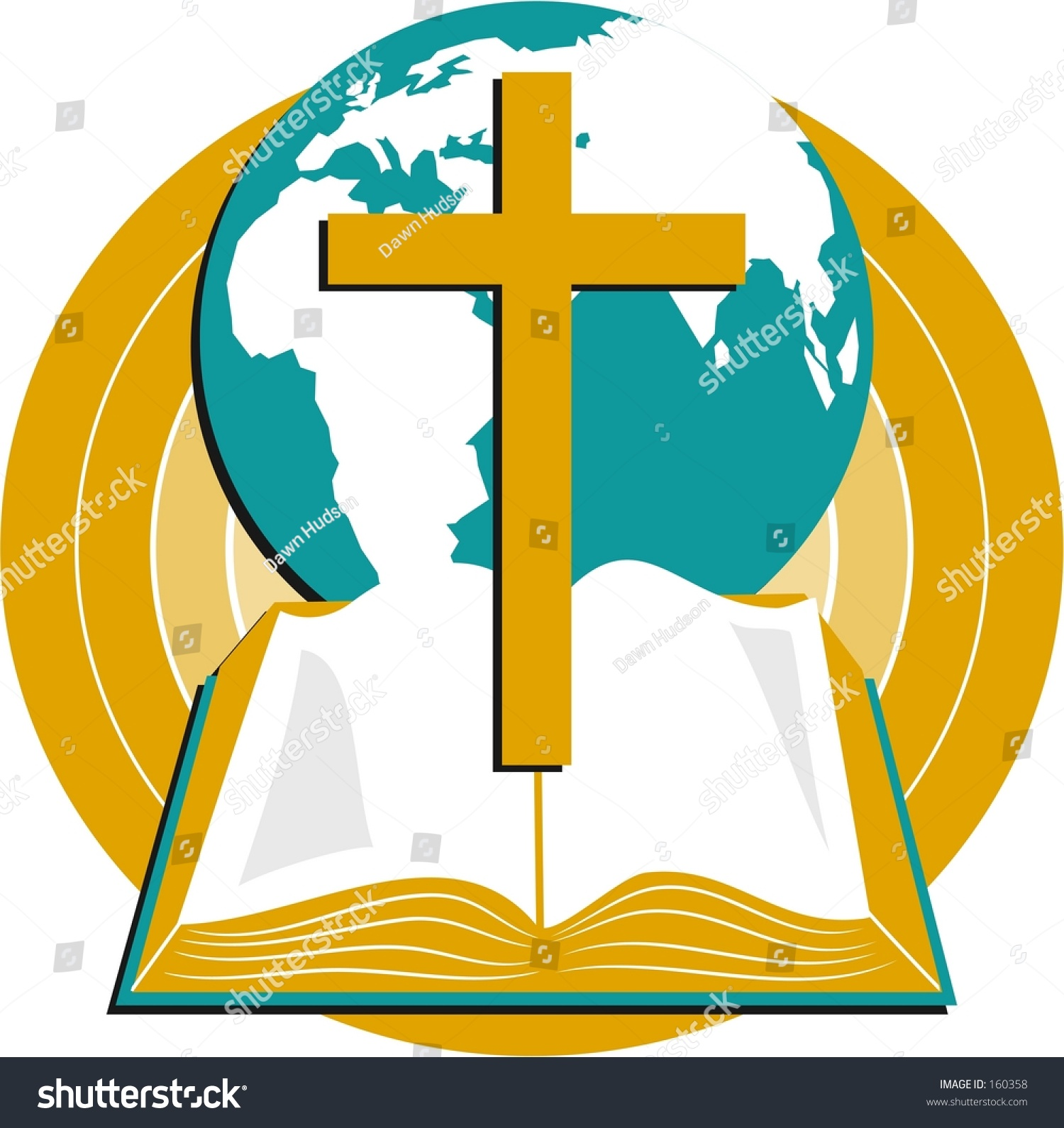 cross globe bible stock illustration 160358 shutterstock
