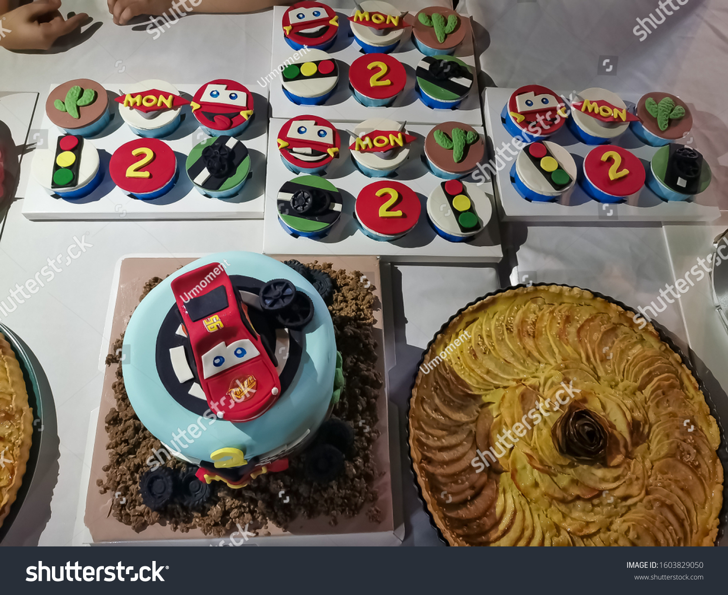 Superb Number 95 Red Lightning Mcqueen Cake Stock Photo Edit Now 1603829050 Birthday Cards Printable Inklcafe Filternl
