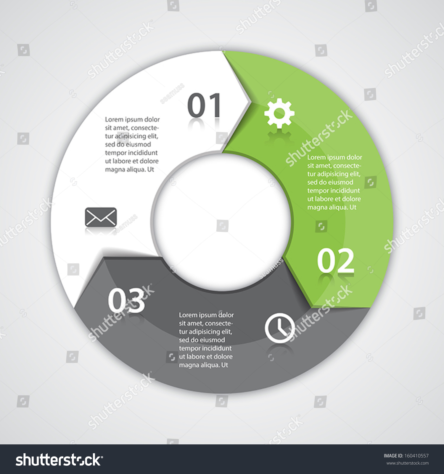 vector circle arrows infographic template diagram stock vector